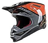 Alpinestars Unisex-Adult S.Tech S-M8 Triple Helmet Orange/Grey/Black Lg (Multi, one_size) - 8301319-4184-L