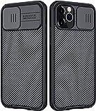 RosyHeart Funda Compatible con iPhone 13 Pro MAX, Protección de Cámara Carcasa para iPhone 13 Pro MAX, Cubierta Deslizante para Cámara Delgado Ligera Rígida PC Anti-Golpes Protectora Caso - Negro