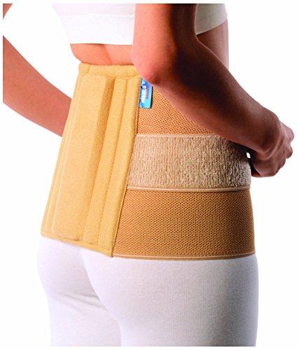 Rückenbandage | Rückenschmerzentlastung | Orthese medizinischer Qualität für chronische Schmerzen, Schmerzen im Lendenwirbelbereich und Kreuzschmerzen, am besten für die Prävention von Verletzungen, Rückenstütze und Lordosenstütze, effizient für Schmerzen, mit ultra dünnen Design, Erleichterung der Rückenschmerzen für Damen und Herren mit Doppelzug. UNISEX