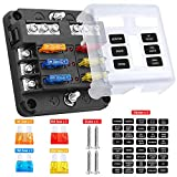 Electop 6 Way Blade Fuse Block Fuse Box Holder, 6 Circuit Car Ato/Atc Fuse Block with LED ...
