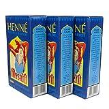 Lot de 3 boîtes de 90 g de henné Masria rapide - Coloris: rouge feu