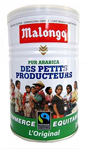 Malongo Arabica Kaffee gemahlen original 250 g Dose FAIRTRADE