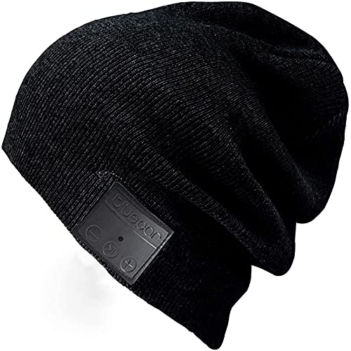 Bluetooth Beanie Mütze BLUEEAR Waschbare Freizeit Bluetooth Baggy Hats Kopfhörer mit akustischem Stereolautsprecher und Freisprecher-Telefonbeantwortung und bis zu 8 Stunden Wiedergabezeit …