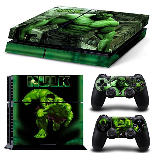 Photo of CloudSmart PS4 Designer Skin for Sony Playstation 4 Console System Plus Two(2) Decals For: PS4 Dualshock Controller – The Hulk