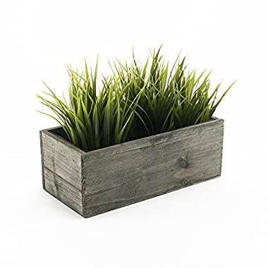 CYS EXCEL Planter Box, Wood Planter, Succulent Planter, Wood Rectangle Window Box, Wood Planters with Removable Zinc Liner, 8 Sizes Available (1, H:5  Open:10x4)