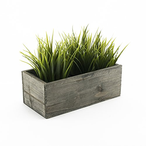 "CYS EXCEL Indoor Rustic Planter Box, Available, Wood Planter, Decorative Box, Succulent and Floral Arrangements, Box with Removable Plastic Liner, H:4"" Open:10x5"