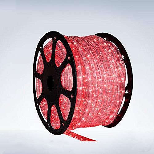 5 Meter Lichtschlauch - Leds in 5 Farbe - Für Innen und Außen - 24 Leds pro Meter, Lichtfarbe:Rot