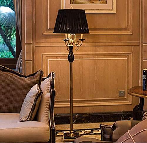 WONS Soggiorno, hotel, camera da letto, lampada da terra -Fafz Lampada da terra in stile europeo Villa classica Hotel Lampada da terra verticale Sogg