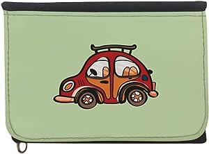 محفظة، قماش جينز،   بتصميم سيارة حمراء