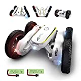 DE38 RC Stunt Cars,Remote Control Car for Kids,50 Mins Playing Time,4WD Double-Sided Racing