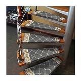 CarPET H-Stufenmatten Teppich Wendeltreppe Kissen Treppenstufen Mats Pad Anti-Rutsch-Trittschutz Teppich Abdeckung Stair 15 Stück
