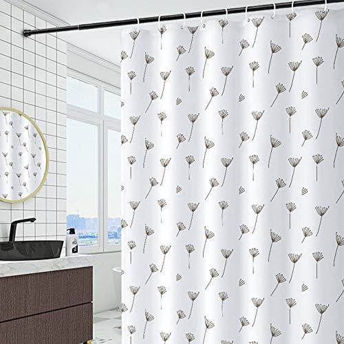 Lfives-hm Duschvorhänge Simple Style Duschvorhänge Dandelion Designed Wasser resistent gegen Schimmel Badvorhang for Badezimmer Antibakteriell Duschvorhang für Badezimmer Badewanne