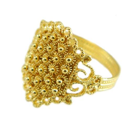 Fede sarda anello in filigrana in oro giallo 18 kt artigianto GIOIELLO SARDEGNA (12)