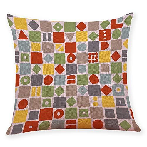 Mamum - Housse de Coussin en Coton géométrique décoratif à la Maison décoratif à la Maison de taie d'oreiller de Sofa de Taille (H)