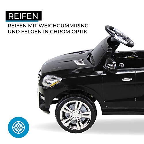 RC Auto kaufen Kinderauto Bild 5: Kinder Elektroauto Mercedes ML 350 Original Lizenz Auto 2X 25 Watt Motor Kinderauto Kinderfahrzeug Elektroauto (Schwarz)*