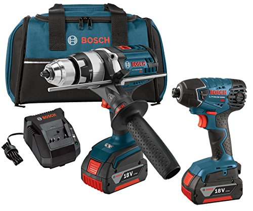 Bosch CLPK222-181 18-volt Lithium-Ion 2-Tool Combo Kit with 1/2-Inch Hammer...