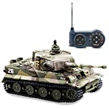 BlueFit German Tiger I Panzer Tank with Remote Control, Battery, Light, Sound,...