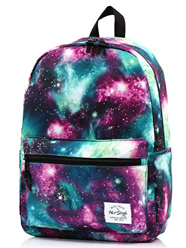 TRENDYMAX School Backpack Galaxy Bag, 42x30x16cm, Green