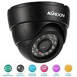 KKmoon HD 1200TVL Cámara de Vigilancia en Domo 1/3¡± CMOS IR-Cut CCTV Sistema de Seguridad Indoor Visión Nocturna PAL, Color Blanco/Negro