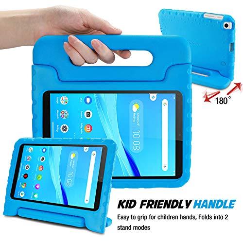 ProCase Kinder Hülle mit Kickstand für Lenovo Tab M8 8.0 Zoll 2nd Gen 2019, Ultra Leicht Stoßfest Robust Kind Schutzhülle Drehbar Handgriff Handle Standfunktion –Blau