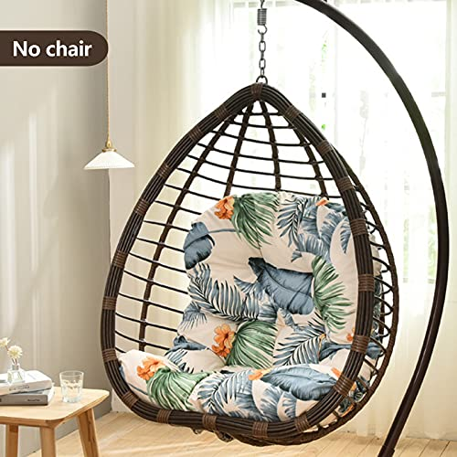 ZWPY Cradle Papasan Swing Chair Cushion,hanging Chair Cushion With Backrest, Non-slip Adult Wicker Chair Basket Round Thicken Cushions Rocking Chair Cushions