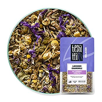 Tiesta Tea - Lavender Chamomile Loose Leaf Soft Chamomile Herbal Tea Non-Caffeinated Hot & Iced Tea 0.9 oz Pouch - 25 Cups Natural Stress Relief & Health Support Herbal Tea Loose Leaf