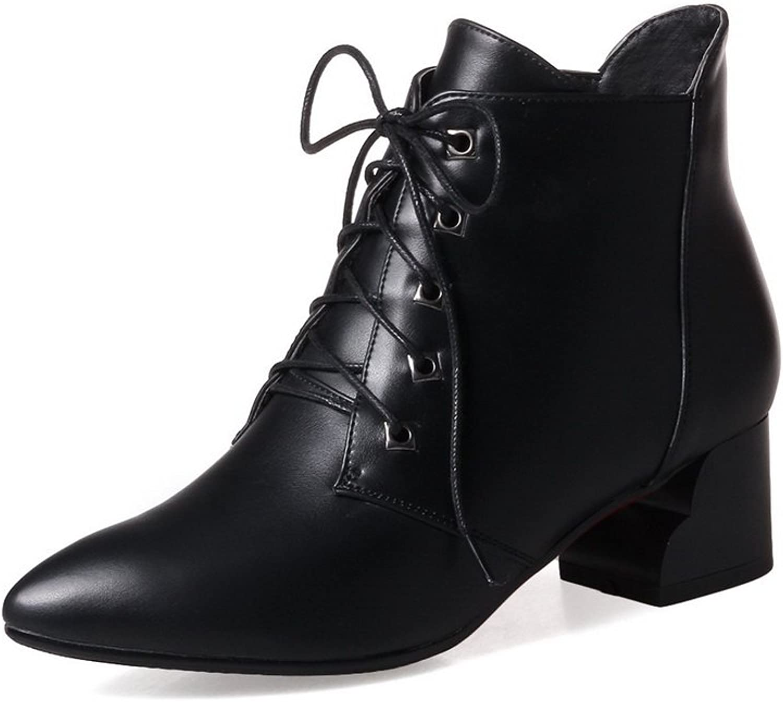BalaMasa Womens Casual Solid Pointed-Toe Microfiber Pumps shoes