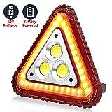SunTop Luz de Trabajo LED USB Recargable, Luz de Emergencia Coche, Luz de Inundación Portátil 30W USB, 4 Modos, Linterna al Aire Libre Impermeable, Luces de Seguridad de Emergencia