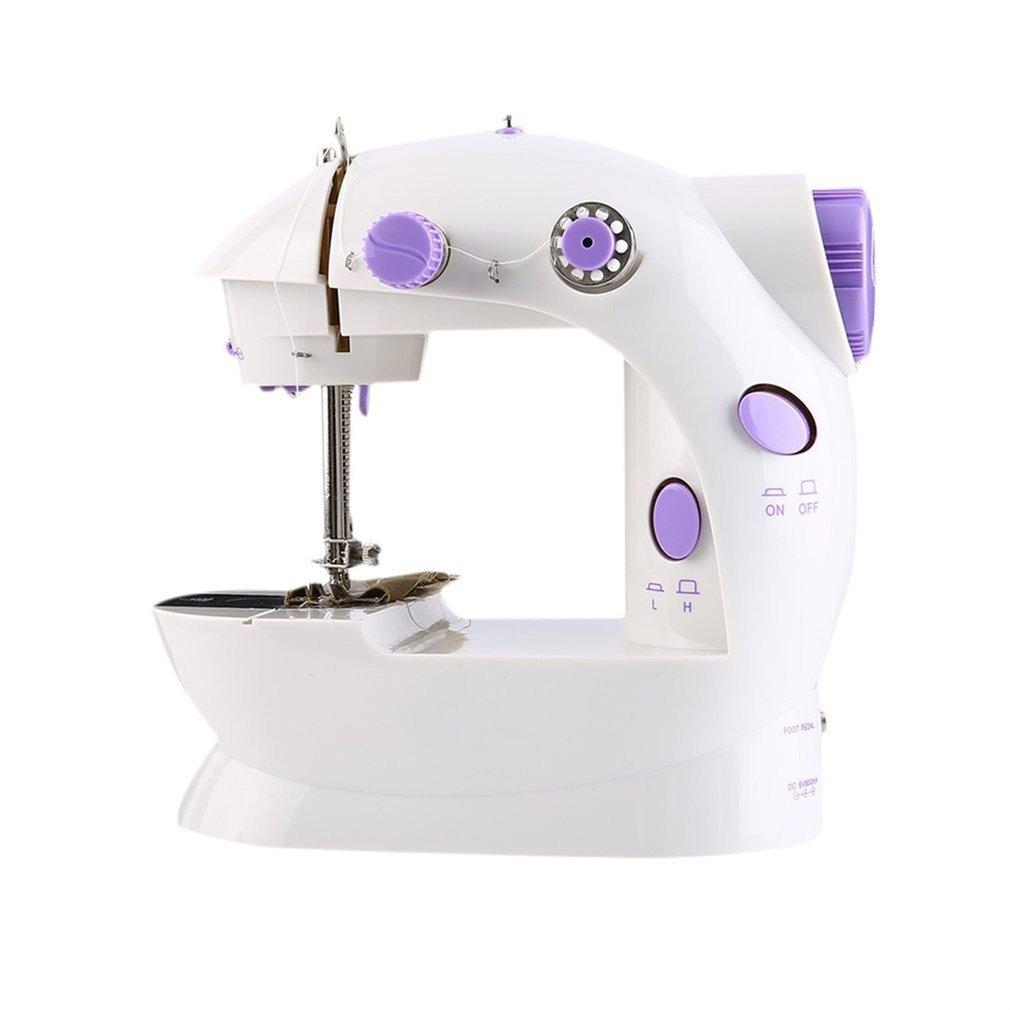 Máquina de coser, mini máquina de coser portátil de 2 velocidades ...