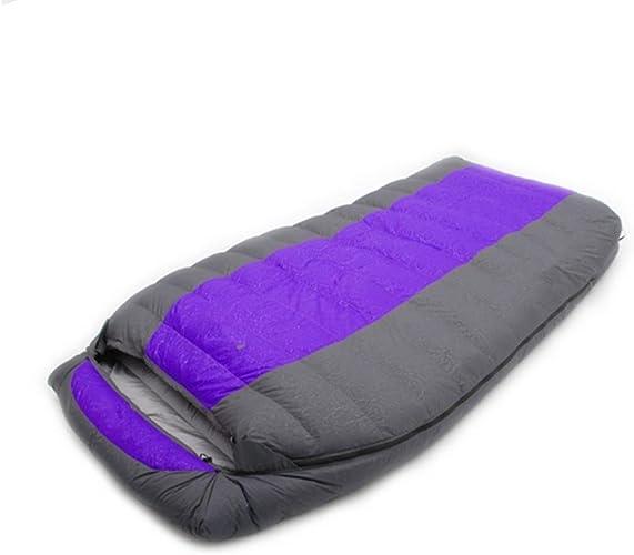 SHUIDAI Sacs de couchage camp épaississement élargissement en bas , violet , 600g