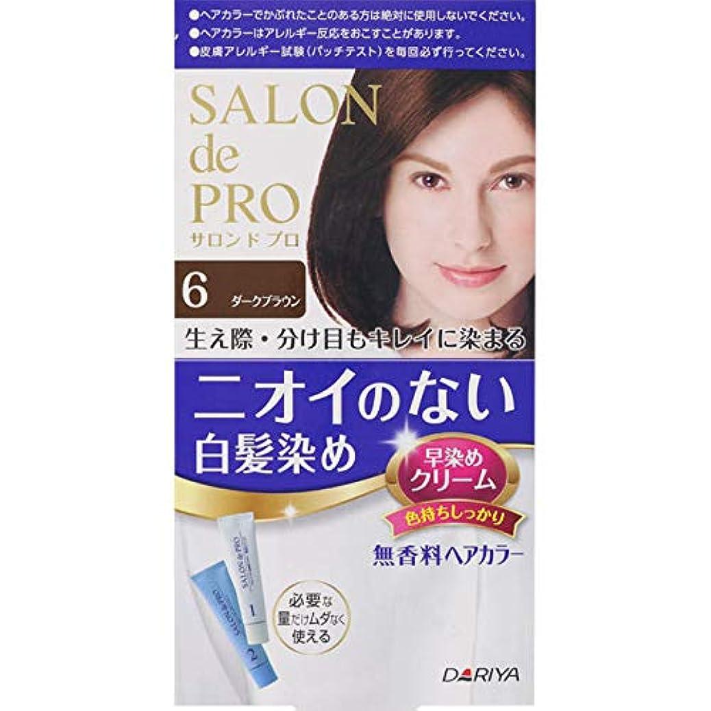 ローン従事するラッシュダリヤ サロン ド プロ 無香料ヘアカラー 早染めクリーム(白髪用) 6 ダークブラウン 40g+40g