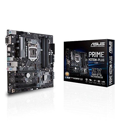 Asus Prime H370M-Plus CSM Desktop Motherboard - Intel Chipset - Socket H4 LGA-1151 - Micro ATX - 1 x Processor Support - 64 GB D