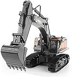 XSPWXN 1:14 Modelo de vehículo de ingeniería de simulación de Bulldozer Profesional Grande RC Toys Aleación Frontal Cargador Excavadora Camión volquete RC Toy Car Cumpleaños Regalo Regalo