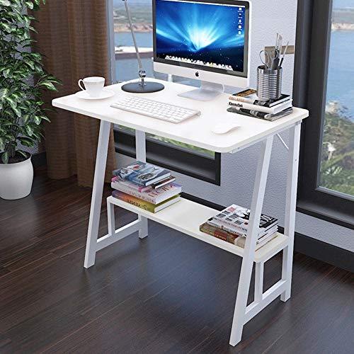 BinLZ-Table Computer-Hauptgebrauchs-Buch-Bücherregal-Moderner Bürotisch Multifunktions- und Vielzweck Zwei Farben, Weiß