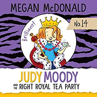 Judy Moody and the Right Royal Tea Party audiobook cover art