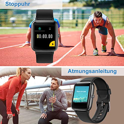 Willful Smartwatch,1.3 Zoll Touch-Farbdisplay Fitness Armbanduhr mit Pulsuhr Fitness Tracker IP68 Wasserdicht Sportuhr Smart Watch mit Schrittzähler,Schlafmonitor,Stoppuhr für Damen Herren
