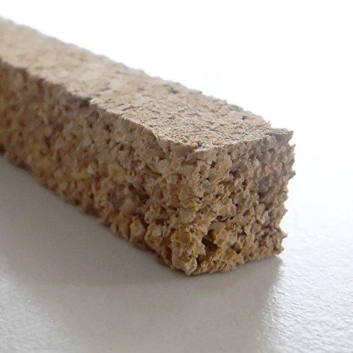 Korkstreifen natur 10 x 10 x 900 mm // für Modelbau, Dehnungsfugen, Basteln uvm. (25 Stk.)