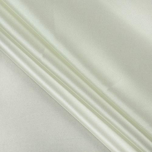 """mds Pack of 5 Yard Charmeuse Bridal Solid Satin Fabric for Wedding Dress Fashion Crafts Costumes Decorations Silky Satin 44""""- Ivory"""