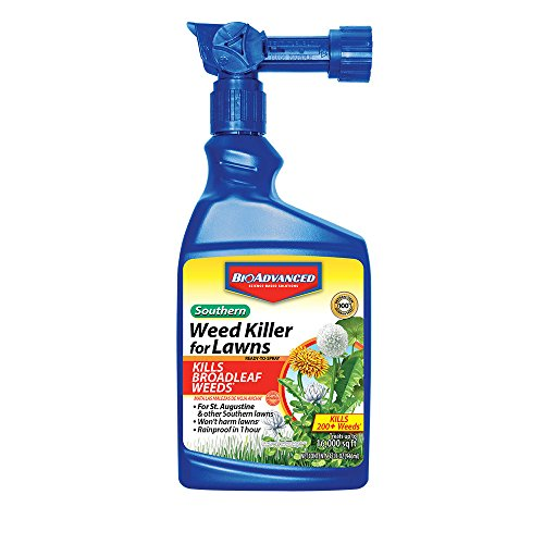 BioAdvanced 704090A Southern Weed Killer for Lawns Ready to Spray 32oz, 32-Ounce