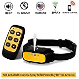 WWVVPET Spray Dog Training Collar with Remote Control,2 Modes Spray Dog Bark Collar (Not Included Citronella Spray),500...