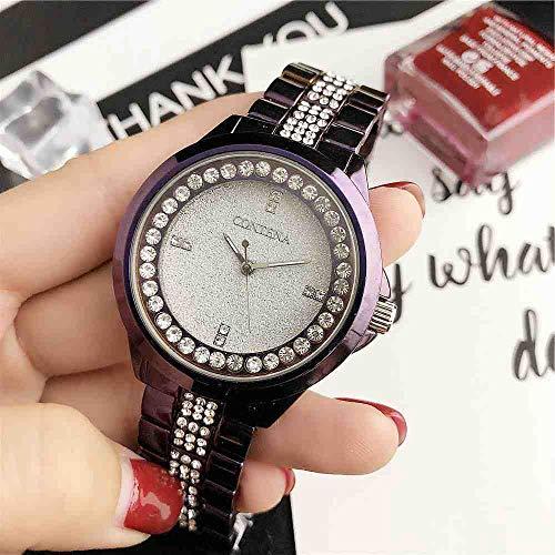 OLUYNG Reloj de Pulsera Reloj de Cuarzo para Mujer New Trend Fashion Purple