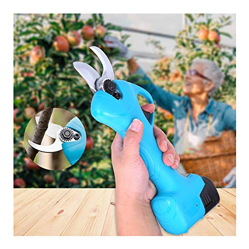 Best Prices! Gtest Professional Cordless Electric Pruning Shears with 2 Pack Backup Rechargeable 2Ah...