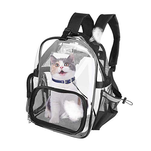 Mochila para Mascotas Mochilas para Gatos Perros Conejo Transportín Plegable Aprobado por...
