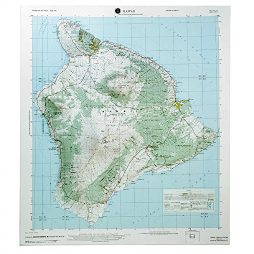 American Education Raised Relief 3D map of HILO, Hawaii, without frame