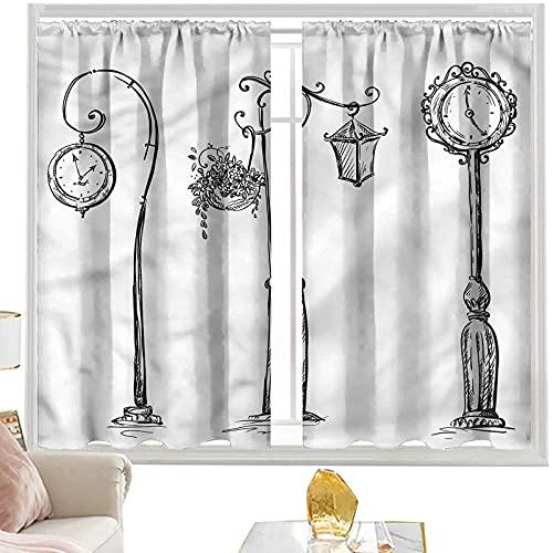 Cortinas & drapes Linterna, Street Clocks Urban W52 x L84 pulgadas cortinas opacas