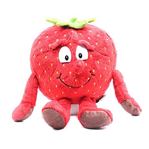 Henreal 1 Stück Gemüse, Obst, weich, Plüsch, niedliches Geschenk für Kinder Strawberry