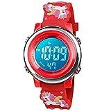 BIGMEDA Reloj Digital para Niños Niña, Luz Intermitente LED de 7 Colores Reloj de Pulsera Niña Multifunción, para Niños de 3 a 12 años (Rosa Unicornio)