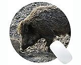 Yanteng Cute Pig Computer Round Mouse Pad, Bache Alfombrilla de ratón cómoda para Juegos y Oficina...