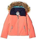 Roxy Jet Ski Solid Girl Jk Chaqueta para Nieve, niñas, Rosa (Emberglow Stripe_1), 12/L