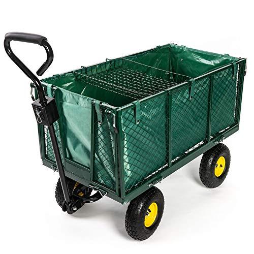Stel4Style Bollerwagen, 550kg Gartenwagen Transportwagen Gerätewagen Handwagen Ziehwagen
